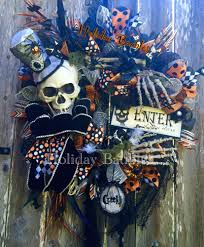 Deco Mesh Halloween Wreath Ideas by 26