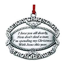 merry from heaven gold keepsake ornament