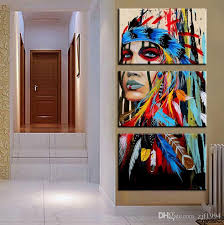 Art For Bedroom 2017 Indian Tattoos Oil Painting Decoration Printing Canvas
