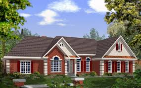 Split Ranch House Plans by Dramatic Brick And Stucco Ranch 2029ga Architectural Designs