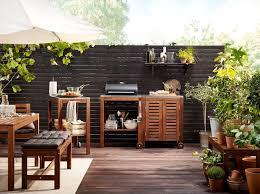 meuble cuisine exterieure bois amenager une cuisine exterieure 15 ides de cuisines 8 idees pour