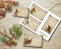 christmas postcards christmas postcard etsy