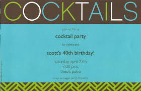 cocktail party invitation wording oxsvitation com