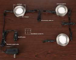 puck under cabinet lighting led under cabinet lighting kit 3w puck lights satin nickel finish