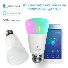 alexa light switch dimmer wifi led bulb dimmer smart rgbw light bulbs remote control wifi