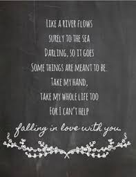 wedding quotes lyrics instant elvis i can t help falling in with