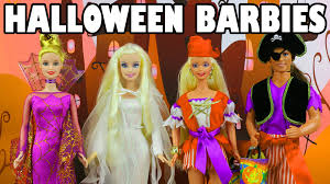 halloween barbie costumes toy review disneytoysfan youtube