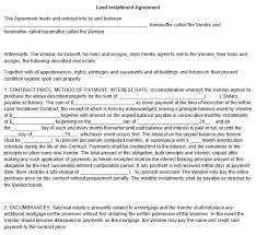 sample land contract forms