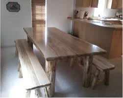 Log Dining Room Tables Rustic Log Dining
