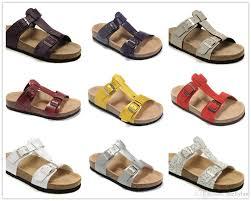 famous brand arizona men women flat heel sandals buckle