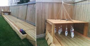 Build Your Own Backyard by Simple And Smart Way To Build Your Own Backyard Bowling Alley