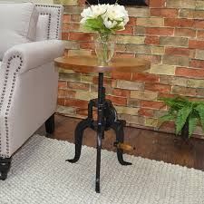 Adjustable Side Table Alice Adjustable Crank Side Table Free Shipping Today