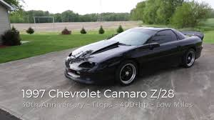 chevy camaro 1997 1997 chevy camaro z 28 ss for sale 30th anniversary edition