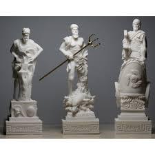 greek gods statues 3 greek gods poseidon ares hephaestus statue sculpture figure set