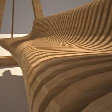 parametric abstract wood benches 10 in 1 collection 3d