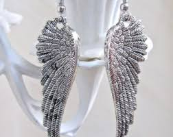wing earrings wing earrings etsy