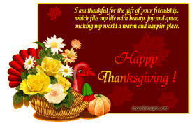 happy thanksgiving day glitter image