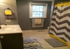 chevron bathroom ideas marvelous gray and yellow bathroom ideas tropical retreat home