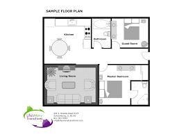 example of living room floor plan
