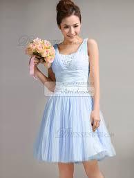 light blue bridesmaid dresses a line straps draped light sky blue bridesmaid dresses