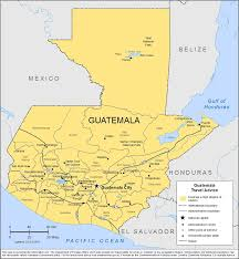 Map Of Active Volcanoes In The United States by Smartraveller Gov Au Guatemala