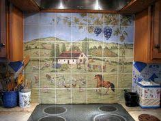 Ceramic Tile Mural Backsplash by 14 Stunning Ceramic Tile Murals For Kitchen Backsplash Photo