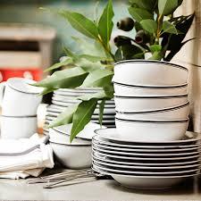 williams sonoma open kitchen black bistro dinnerware collection