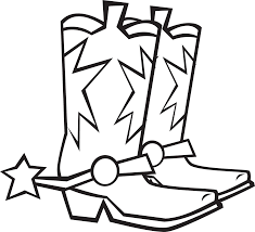 cowboy boots coloring page kids coloring