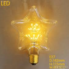 edison light bulb l star heart shape 2w led bombilla edison l light bombillas vintage
