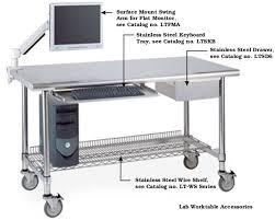 Stainless Steel Desk Accessories Metro Stainless Steel Keyboard Tray Lab Worktables