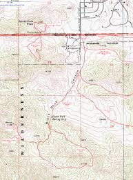 Griffith Park Map Topographic Map Of The Panorama Trail Joshua Tree National Park