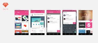 dribbble dribbble material android app sketchapp tv the best free