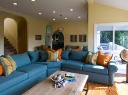 living room classy tan living room with light blue yellow wall