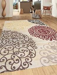 Area Rugs With Circles New City Contemporary Brown Beige Modern Flowers Circles Wool Area