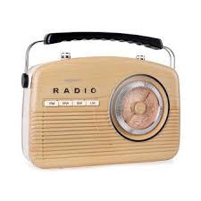 radio cd cuisine oneconcept nr 12 radio cuisine rétro fifties fm am marron clair