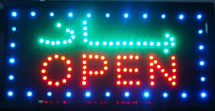 shop open sign lights ultra bright arabic store advertising light sign led business shop