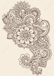 Floral Designer Resume Fleurs Henna Mehndi Paisley Doodles Tattoo Design Résumé Floral
