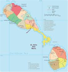 Map Caribbean Sea by Political Map Of Saint Kitts And Nevis Basseterre