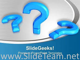 question mark symbol on blue background powerpoint template