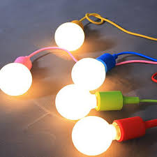 Cable Pendant Lighting Modern Colorful Silicone Pendant Lights For Bar Restaurant E27