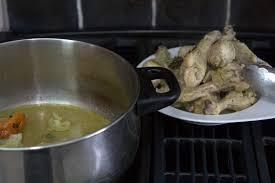 que veut dire r駸erver en cuisine le poulet en sauce haitien