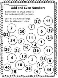 free odd and even numbers worksheet this is a free odd and even