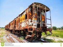 rusty train graveyard of rusty old diesel train stock photo image 70594458