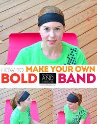 yoga headband tutorial diy your own bold exercise band headband a tutorial