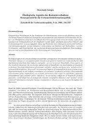 Einbauk Hen Gut Und G Stig ökologische Aspekte Des Konsumverhaltens U2014 Konsequenzen Für Die