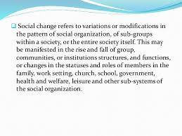 modification si e social association chapter 21 social change