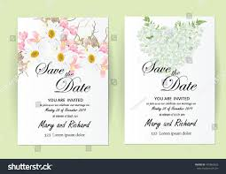 Wedding Invitation Card Samples Vector Brochure Flyer Design Layout Template Stock Vector