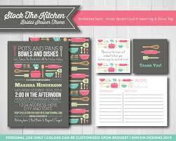 kitchen bridal shower ideas stock the kitchen invitation set bridal shower invite recipe