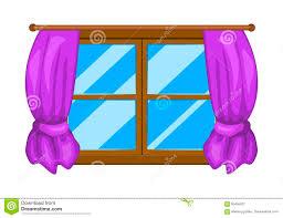 cartoon window with curtains vector symbol icon design stock