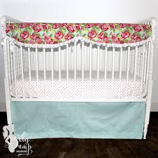 Preppy Crib Bedding Floral Chic Baby Crib Bedding